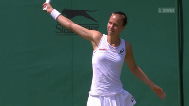 Video «Golubic bleibt in der 2. Wimbledon-Runde hängen» abspielen