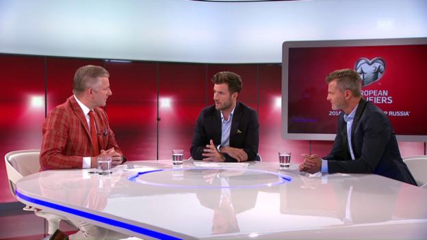 Video «Die SRF-Experten blicken auf das Spiel gegen die Färöer voraus» abspielen