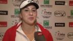 Video «Belinda Bencic nach dem Halbfinal-Einzug im Fed Cup» abspielen