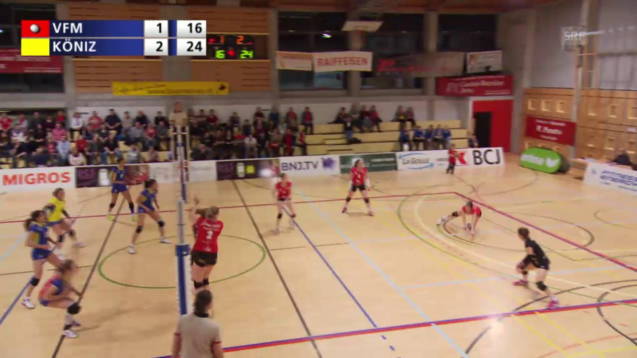 Volleyball: Matchball Franches-Montagnes - Köniz (unkommentiert)