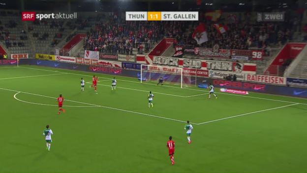 Video «St. Gallen kommt in Thun zu späten 3 Punkten» abspielen