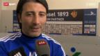 Video «Fussball: Der FC Basel am Tag nach dem Chelsea-Spiel» abspielen