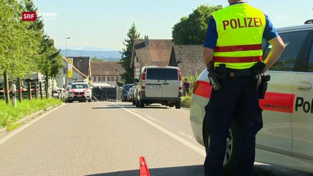 Video «Polizeieinsatz in Hefenhofen» abspielen