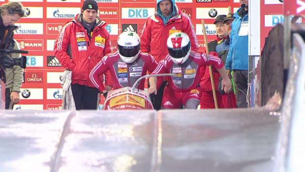 Video «Bob: Weltcup Altenberg, 2. Lauf Peter» abspielen