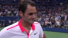 Video «Tennis: US Open, Federer-Darcis, Interview Federer» abspielen