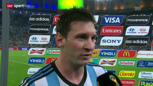 Video «FIFA WM 2014: Lionel Messi im Interview» abspielen