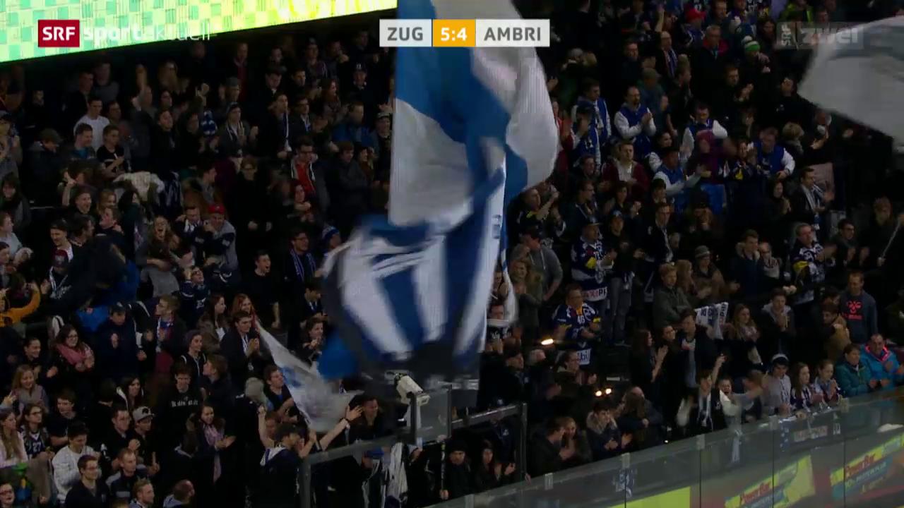 Eishockey: Zug - Ambri