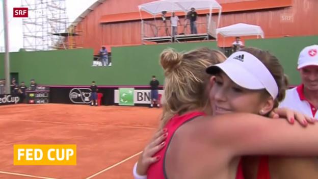 Video «Tennis: Schweizer Fed-Cup-Team reist nach Schweden («sportaktuell»)» abspielen