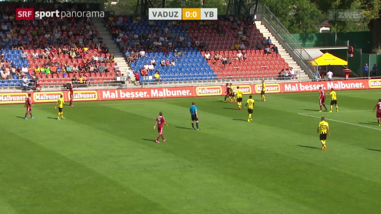 Fussball: Super League, Vaduz - YB