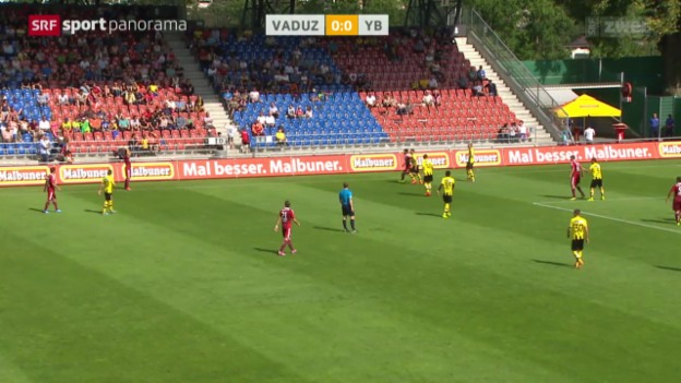 Video «Fussball: Super League, Vaduz - YB» abspielen