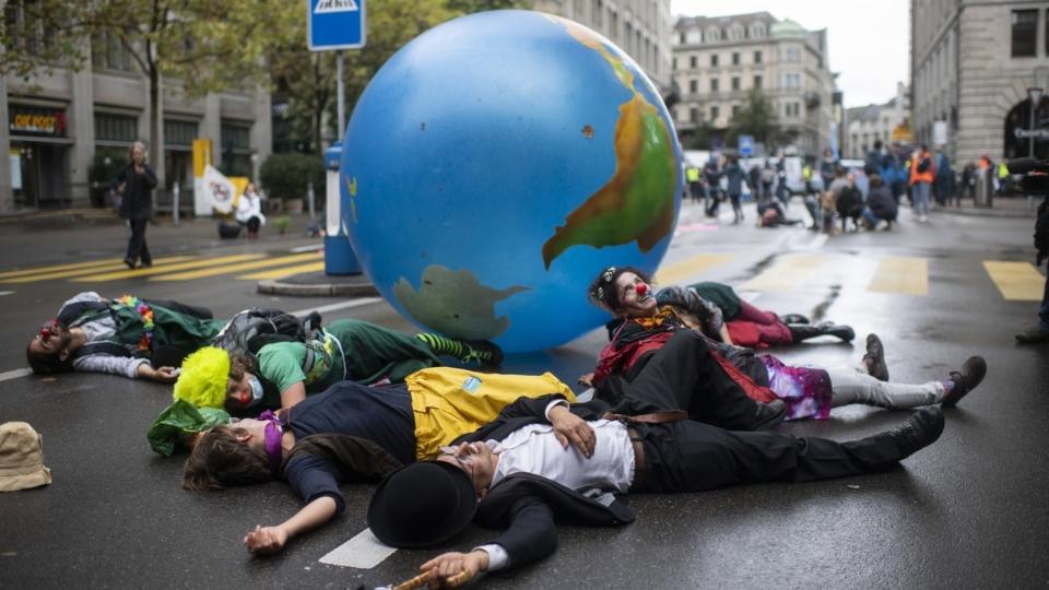Ein zu harmloser Protest für Zürcher Klimaschützer