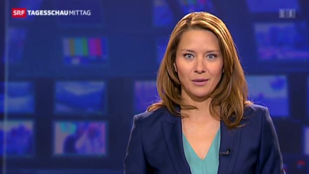 Video «Wasiliki Goutziomitros' erste «Tagesschau»-Moderation vom 5. Juli 2013» abspielen