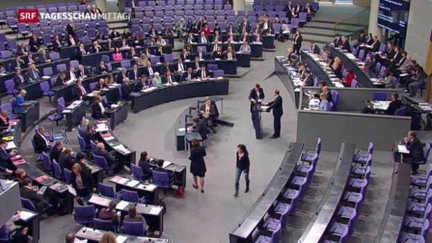 Video «Die Debatte im deutschen Bundestag» abspielen
