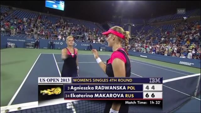 Matchball Makarowa - Radwanska (unkommentiert)