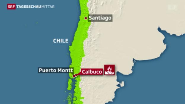 Video «Vulkanausbruch in Chile: Evakuierungen und Ausgangssperre» abspielen
