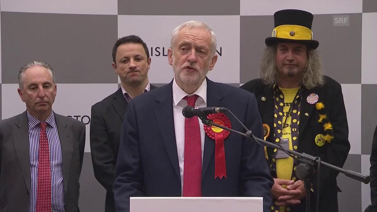 Corbyn fordert Mays Rücktritt (engl. Originalton)