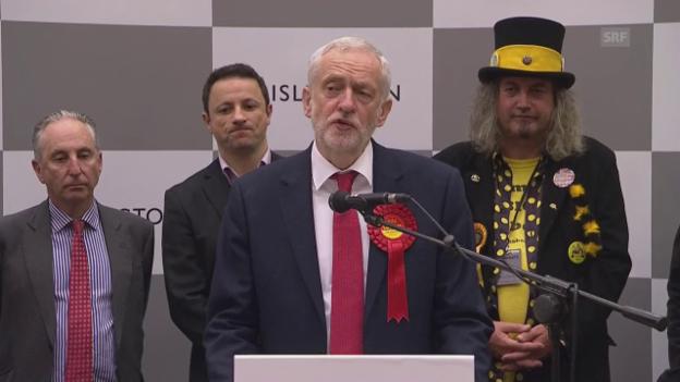 Video «Corbyn fordert Mays Rücktritt (engl. Originalton)» abspielen
