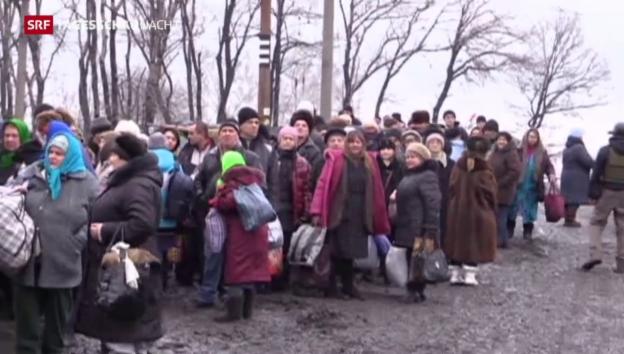 Video «Ukraine: Kurze Verschnaufpause für eingekesselte Zivilisten» abspielen
