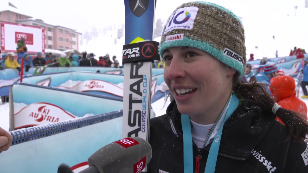 Ski Alpin: Weltcup Kühtai, Riesenslalom Frauen, Interview Gisin