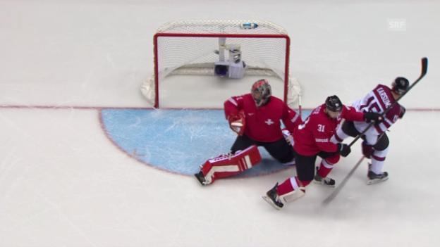 Video «Eishockey: Zusammenfassung Schweiz - Lettland («sotschi aktuell», 18.02.2014)» abspielen