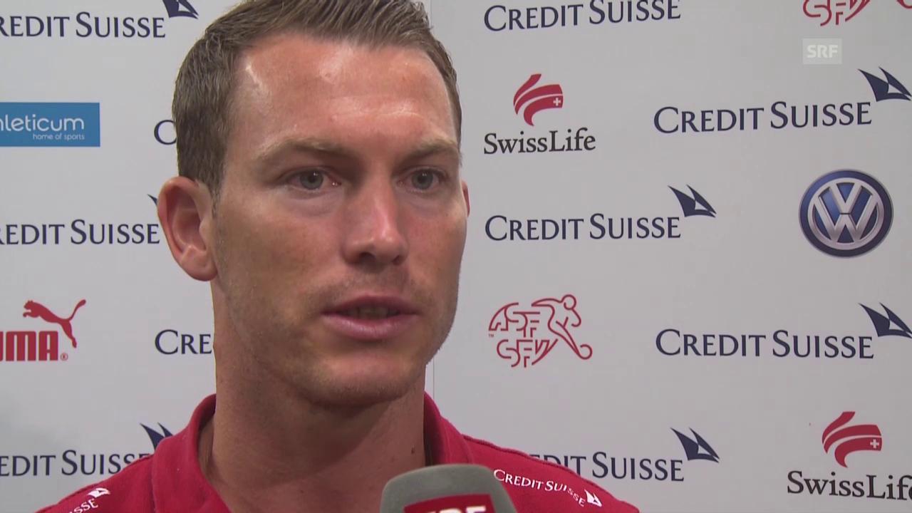 Fussball: Schweizer Nati vor dem Rückspiel gegen Slowenien, Interview Lichtsteiner