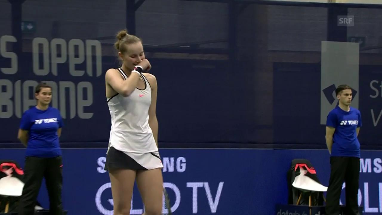 Kontaveit und Vondrousova spielen in Biel um den Turniersieg