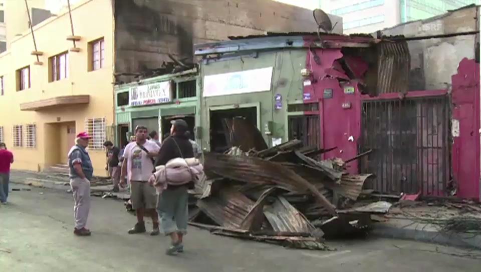 Aufräumen nach dem Beben