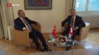Video «Türkischer Aussenminister trifft Didier Burkhalter» abspielen