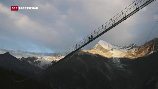 Video «Längste Hängebrücke der Welt» abspielen