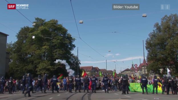 Video «Auseinandersetzungen fordern 22 Verletzte» abspielen