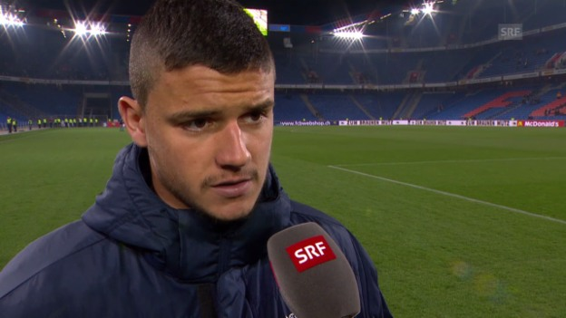 Video «Fussball: Super League, Basel - Zürich, Interview mit Loris Benito» abspielen