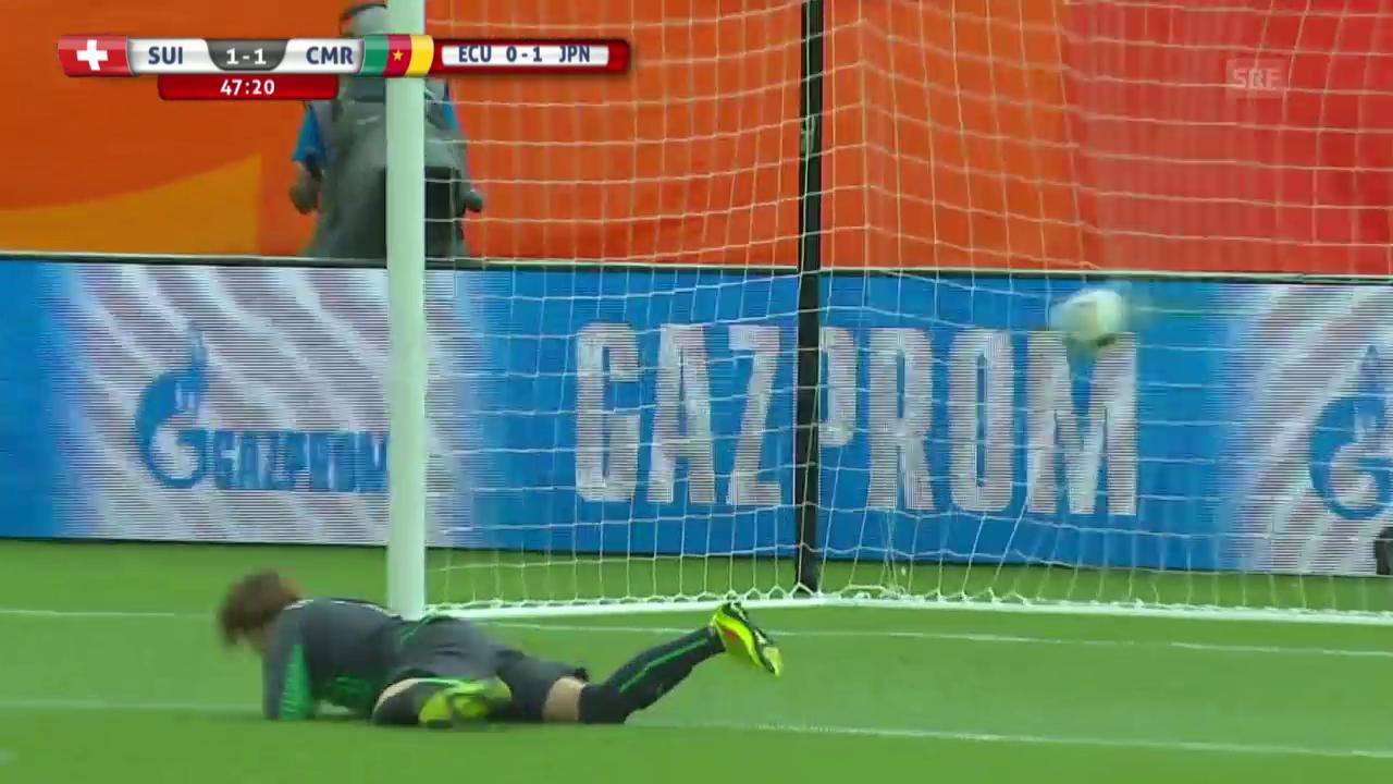 Fussball, Frauen-WM, Schweiz-Kamerun, 1:1 Kamerun