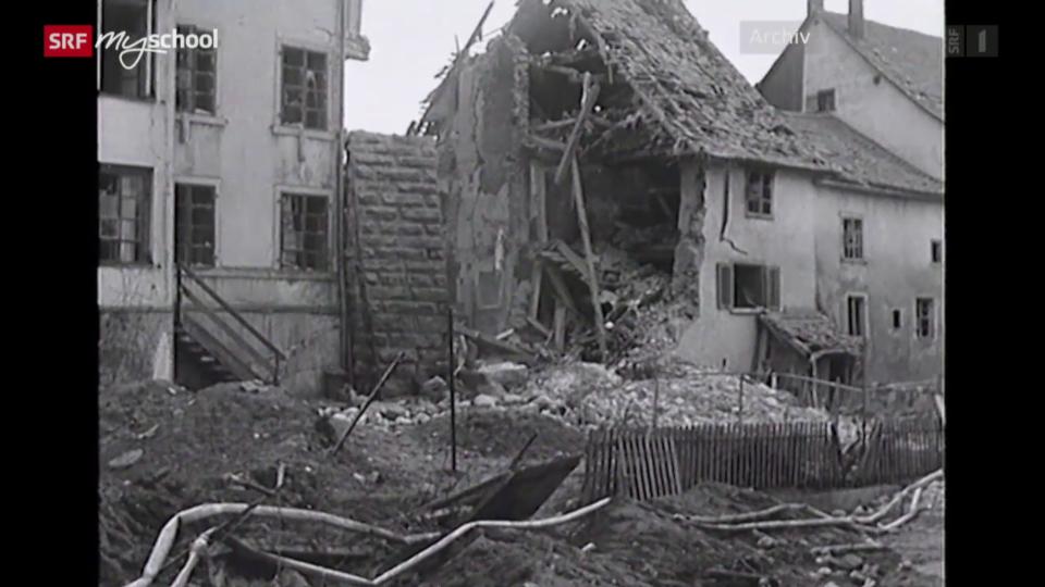 Die Bombardierung von Schaffhausen
