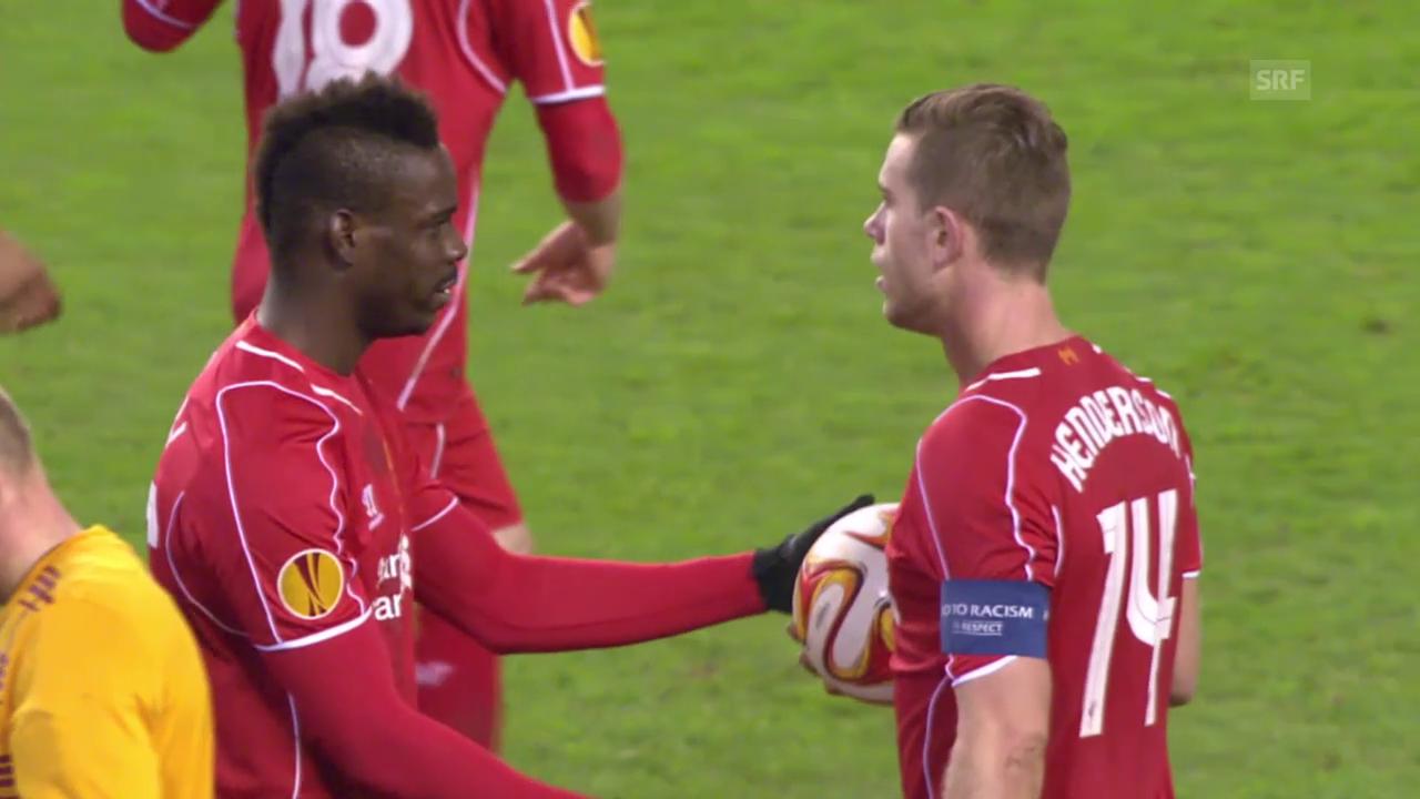 Fussball: Liverpool-Besiktas, Penaltyszene und Quotes Rodgers