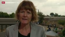 Video «SRF-Korrespondentin Christina Karrer» abspielen