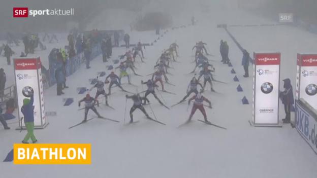 Video «Biathlon: Platz 6 für Schweizer Staffel» abspielen