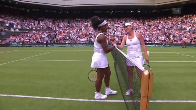 Video «Tennis: Wimbledon, 2. Runde, Matchball S. Williams - Babos (Quelle: SNTV)» abspielen