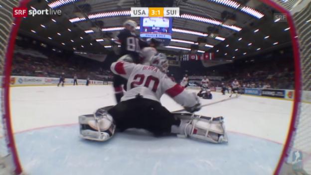Video «Eishockey: WM-Viertelfinal, Matchbericht USA-Schweiz» abspielen
