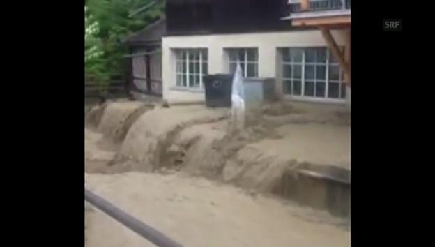 Video «Reissendes Gewässer in Alstätten» abspielen