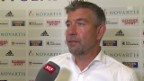 Video «Fussball: CL-Quali 2015, Basel - Lech Posen, Interview Urs Fischer» abspielen