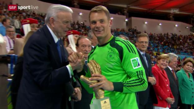 Video «WM 2014: Neuer und Messi geehrt» abspielen