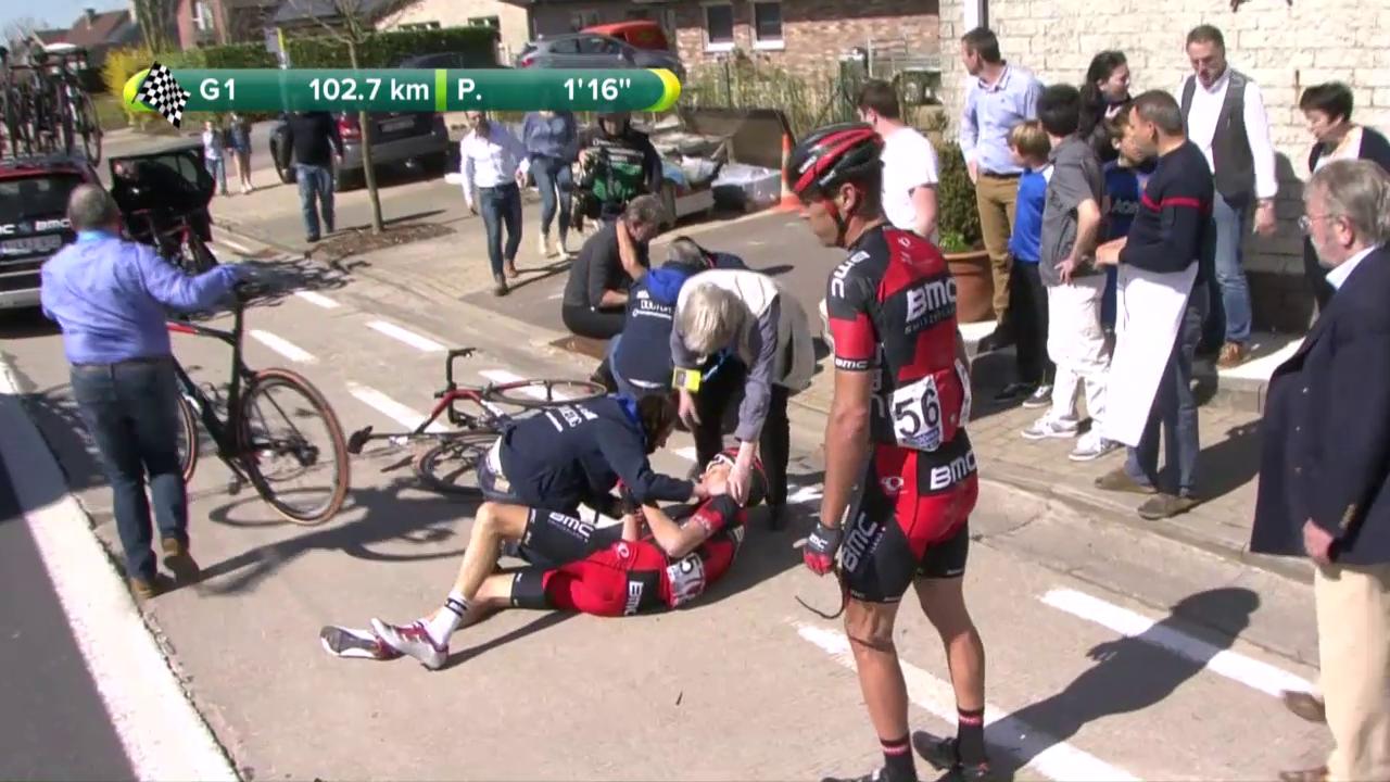 Sturz mehrerer BMC-Fahrer an der Flandern-Rundfahrt