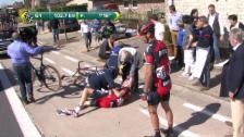 Video «Sturz mehrerer BMC-Fahrer an der Flandern-Rundfahrt» abspielen