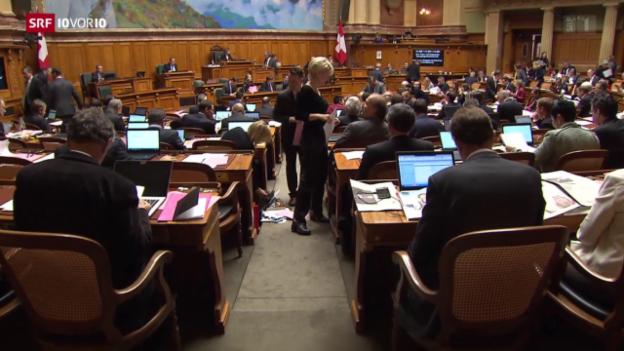 Video «Erste Session des neuen Nationalrats mit bürgerlicher Mehrheit» abspielen