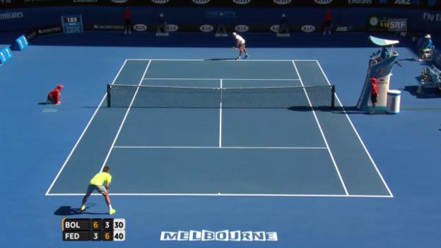 Video «Break für Federer» abspielen