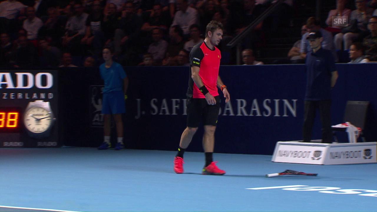 Wawrinka zertrümmert sein Racket