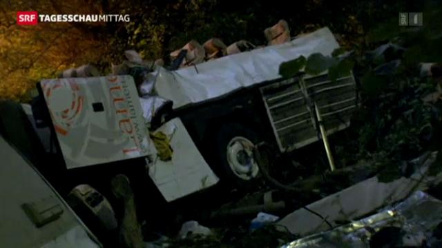 Schweres Busunglück in Italien
