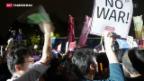 Video «Neues Verteidigungsgesetz in Japan kurz vor Umsetzung» abspielen