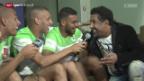 Video «Fussball: Sänger Khaled zu Gast bei Algeriens Nationalmannschaft» abspielen