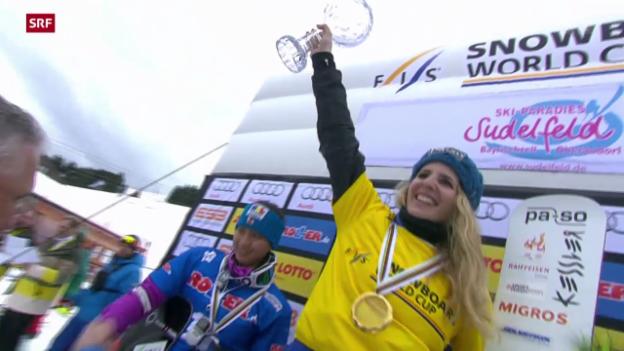 Video «Snowboard: Parallel-Riesenslalom in Sudelfeld» abspielen